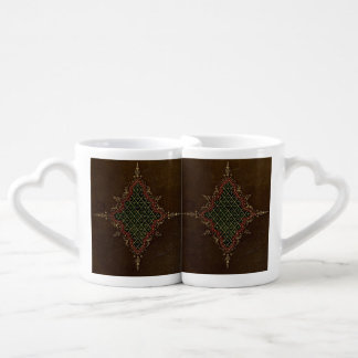 Ancient Goth Grunge Leather Couple Mugs