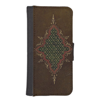 Ancient Goth Grunge Leather Phone Wallet Case