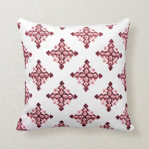Ancient Gothic Crosses Pink Floral Pattern Throw PillowsGothic Floral Pattern