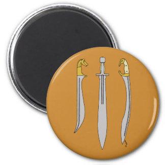 Ancient Greek Blades 2 Inch Round Magnet