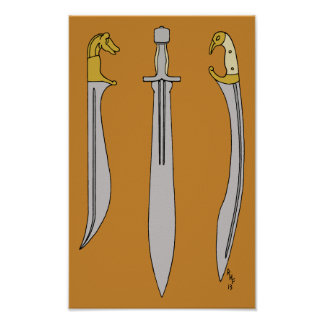 Ancient Greek Blades Poster