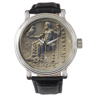 ANCIENT GREEK COIN /ZEUS HOLDING AN EAGLE Printed Watch