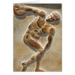 Ancient Greek Discus Thrower -  Discobolus Card