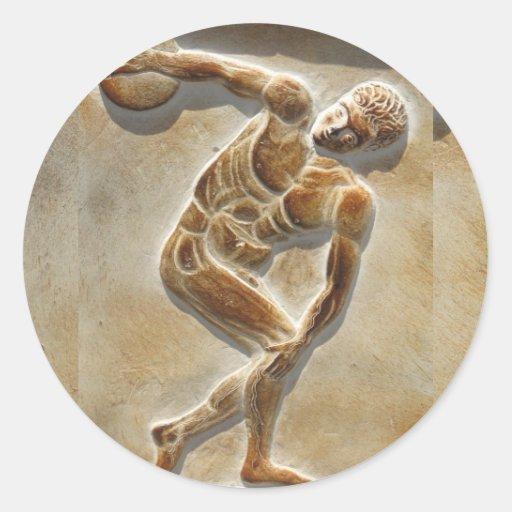Ancient Greek Discus Thrower -  Discobolus Classic Round Sticker