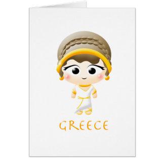 Ancient Greek Girl Card
