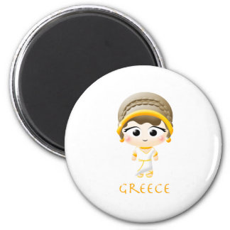 Ancient Greek Girl Magnets