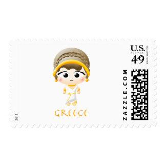 Ancient Greek Girl Postage