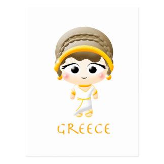 Ancient Greek Girl Postcard