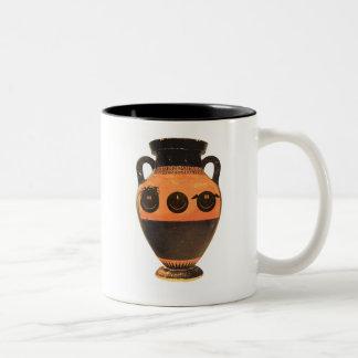 ancient greek happy faces mug