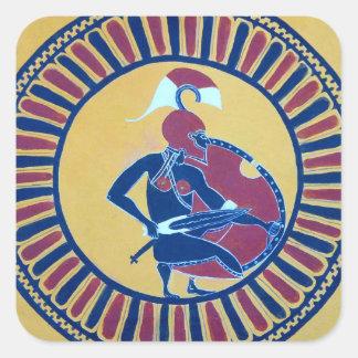Ancient Greek Hoplite Warrior Square Sticker