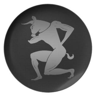 Ancient Greek Minotaur Plate