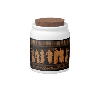 Ancient Greek Mural Candy Dish