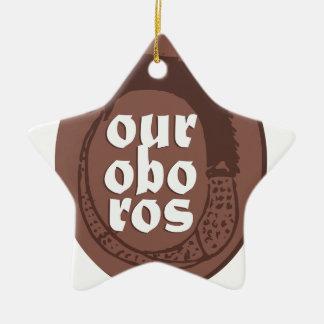 Ancient Greek Ouroboros Ceramic Ornament