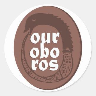 Ancient Greek Ouroboros Classic Round Sticker
