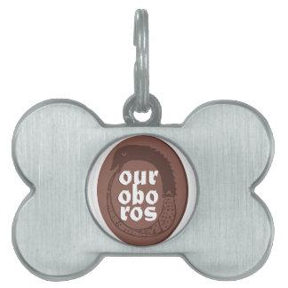 Ancient Greek Ouroboros Pet Name Tag