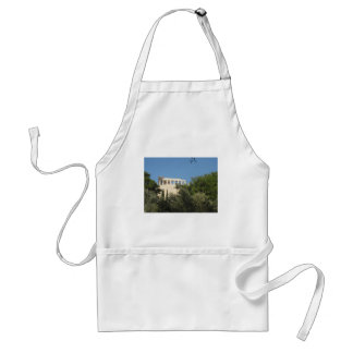 Ancient Greek Parthenon from afar Adult Apron