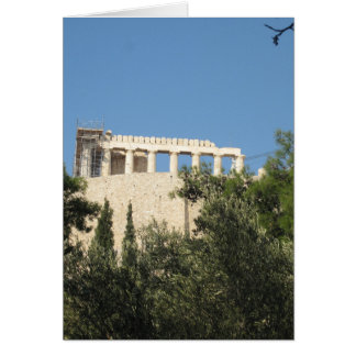 Ancient Greek Parthenon from afar Card