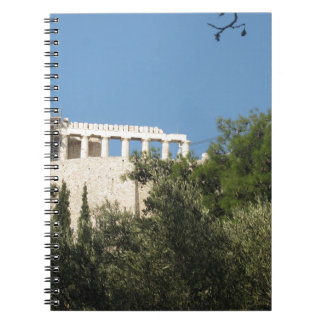 Ancient Greek Parthenon from afar Spiral Notebooks