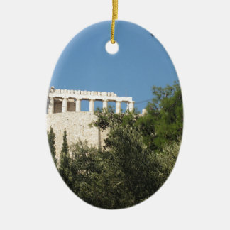 Ancient Greek Parthenon from afar Ornaments