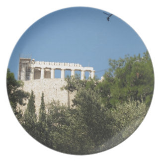 Ancient Greek Parthenon from afar Party Plates