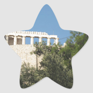Ancient Greek Parthenon from afar Star Sticker