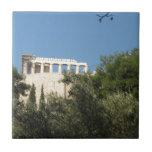 Ancient Greek Parthenon from afar Tiles