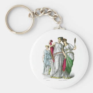 Ancient Greek Priestess and Noble Women Key Chains