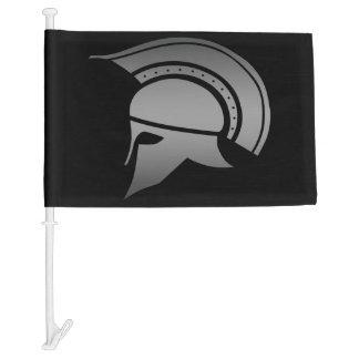 Ancient Greek Spartan Helmet Car Flag