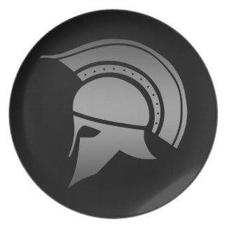 Ancient Greek Spartan Helmet Dinner Plate