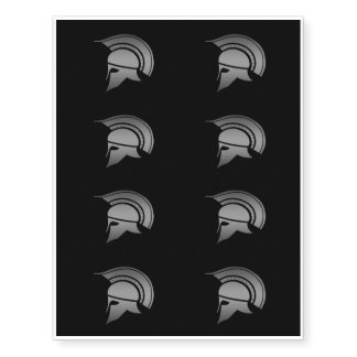 Ancient Greek Spartan Helmet Temporary Tattoos