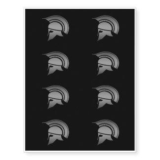 Ancient Greek Spartan Helmet Temporary Tattoos