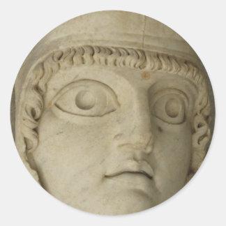 Ancient Greek statue Classic Round Sticker