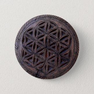 ancient greek symbol wood ethnic motif carved myth button
