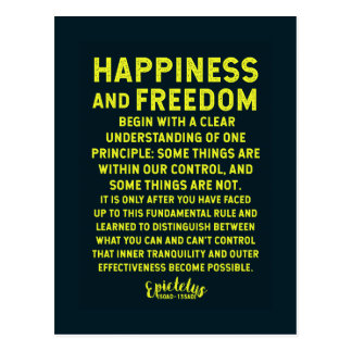 Ancient Greek Wisdom on Happiness / Freedom / Cont Postcard