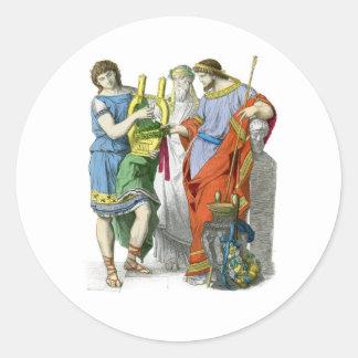 Ancient Greeks Classic Round Sticker