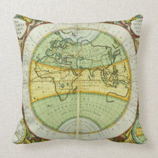 Ancient Hemispheres of the World, plate 94 from 'T Throw Pillow