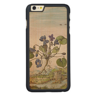 Ancient Herbal Art On Wood Carved Maple iPhone 6 Plus Case