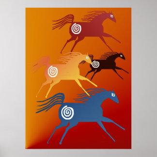 Ancient Horses Print