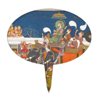 ANCIENT INDIA ROYAL ELEPHANT PROCESSION CAKE TOPPERS
