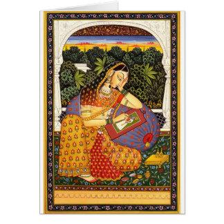 Ancient Indian Mughal Princess Greeting Cards