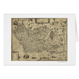 Ancient Ireland Ortelius Map Drawn By Baozio 1606 Cards