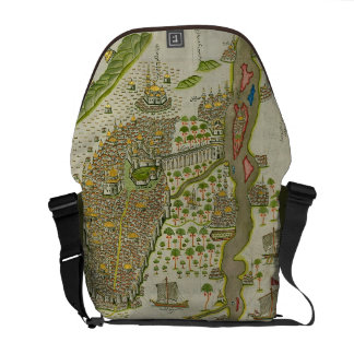 Ancient Islamic Map Messenger Bag