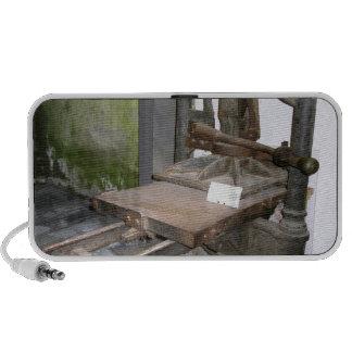 Ancient italian printing press iPhone speaker