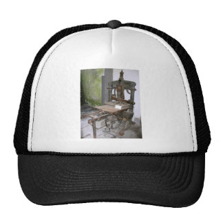 Ancient italian printing press trucker hat
