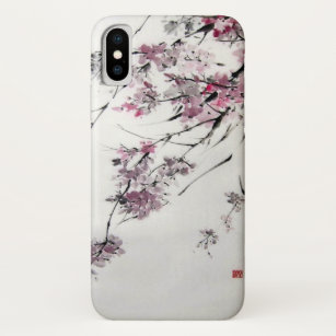 c44ad3ff4a Ancient Japanese Cherry Blossoms Watercolor iPhone X Case