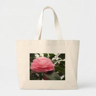 Ancient japanese cultivar of pink Camellia Large Tote Bag