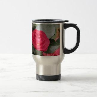 Ancient japanese cultivar of red Camellia japonica Travel Mug