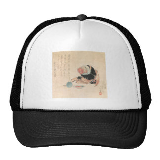 Ancient Japanese Demon Painting Hat