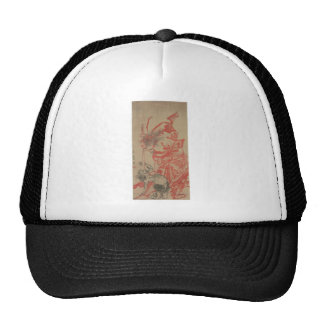 Ancient Japanese Demon Painting Mesh Hats