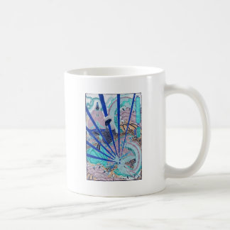 Ancient Japanese Dragon Painting Circa 1860's Coffee Mug